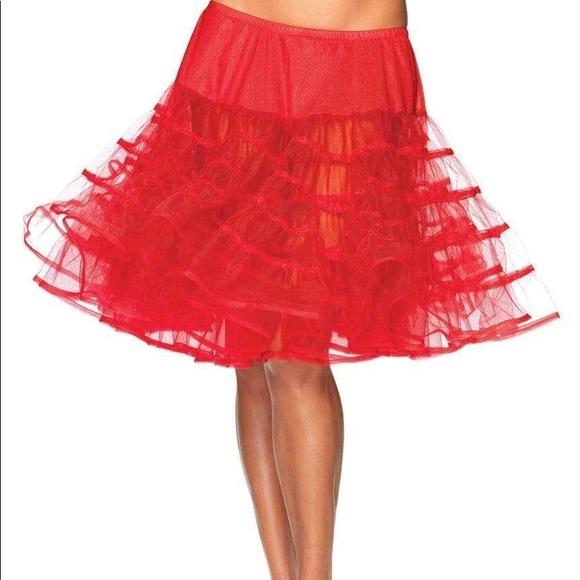 Leg Avenue red petticoat